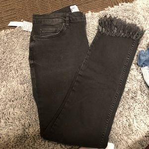 Black Jeans with frayed bottom